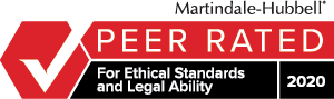 Martindale Hubbell | PEER RATED | For Ethical Standards and Legal Ability | 2017