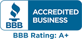 BBB Accredited Business | BBB Rating: A+
